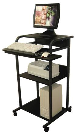 stand-up computer cart and desk