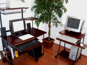 24 inch computer cart with 40 inch computer desk