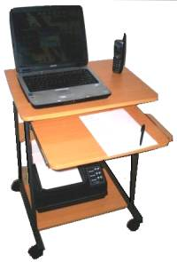 5806 24 inch computer cart in red beech