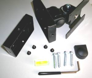 Flat panel screen wall bracket parts