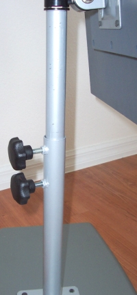 flat panel monitor height adjustable pole mount arm