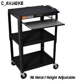 C Avj42kb 21 Metal Computer Desk Adjustable Height