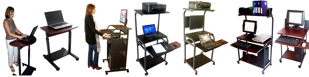 Computer Desks Carts Furniture Tables Workstations Lcd Mounts