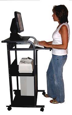 S2445 24 W Mobile Standup Computer Laptop Desk