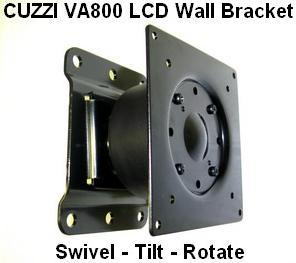 LCD monitor VESA Wall mount for monitors up to 25 lbs and 25 inches. LCD wall monitor bracket