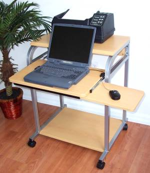 A Real Sturdy Mobile Laptop Cart. Placing The Laptop Computer On The  Keyboard Shelf You Van Achieve An Ergonomic Keyboard Height. After Use,  Just Stow Away ...