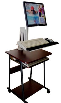 lcd monitor keyboard combo for wall or desk mount stand up computer workstation
