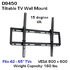 flat screen wall mount with tilt; flat panel TV wall mount; flat TV wall mount VESA