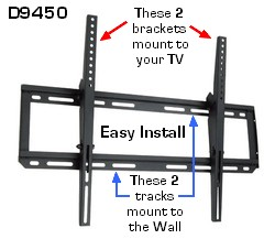 CUZZI D9450 heavy-duty TV Wall Mount; Plasma TV wall mount; VESA TV WAll Mount