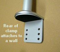 clamp for wall-installing monitor stand