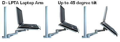 D Lpta Laptop Arm Amp Tray For 35 Mm Poles