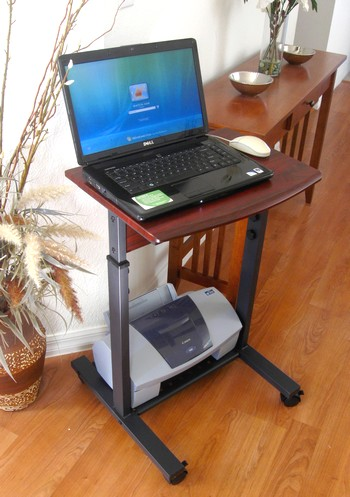 "S2015 20"" Narrow Mini Laptop desk - Sit or Stand - Height Adjustable"