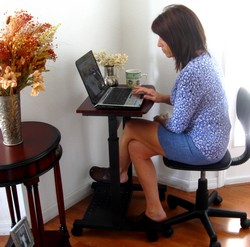 "Narrow Computer Table s2015 20"" narrow laptop desk height adjustable sit and stand"