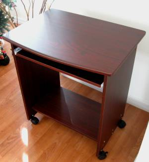 "Narrow Computer Table sw2718 26"" w. narrow compact computer desk w/ mouse tray"