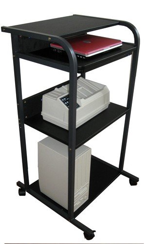standing mobile computer workstation