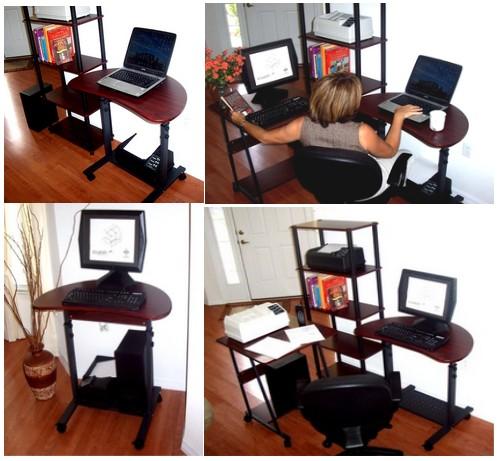 S 003 32 Sit Stand Height Adjustable Computer Desk
