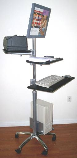 Vc 02 Lcd Monitor Computer Pole Cart
